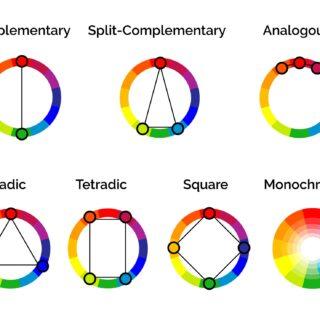 Color harmony schemes