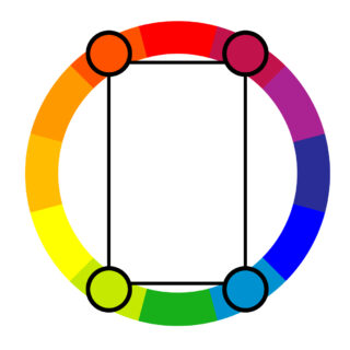 Tetradic color harmony