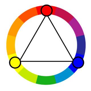 Triadic color harmony