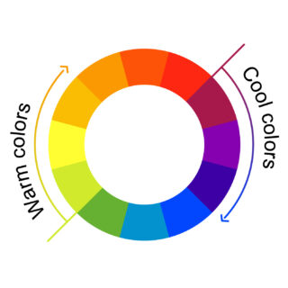 Warm and cool colors graphic