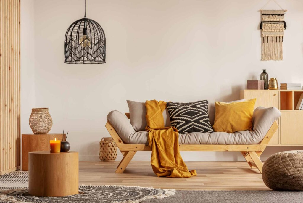 Yellow living room, a welcoming area